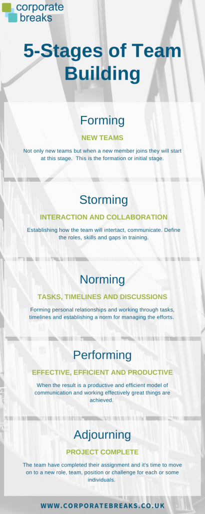 The stages of a team building process
