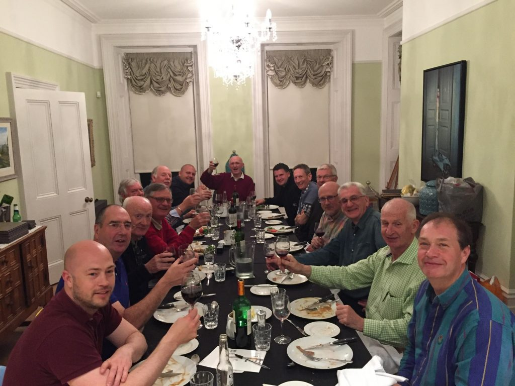 Corporate group enjoying dinner at Quay house in Dorset