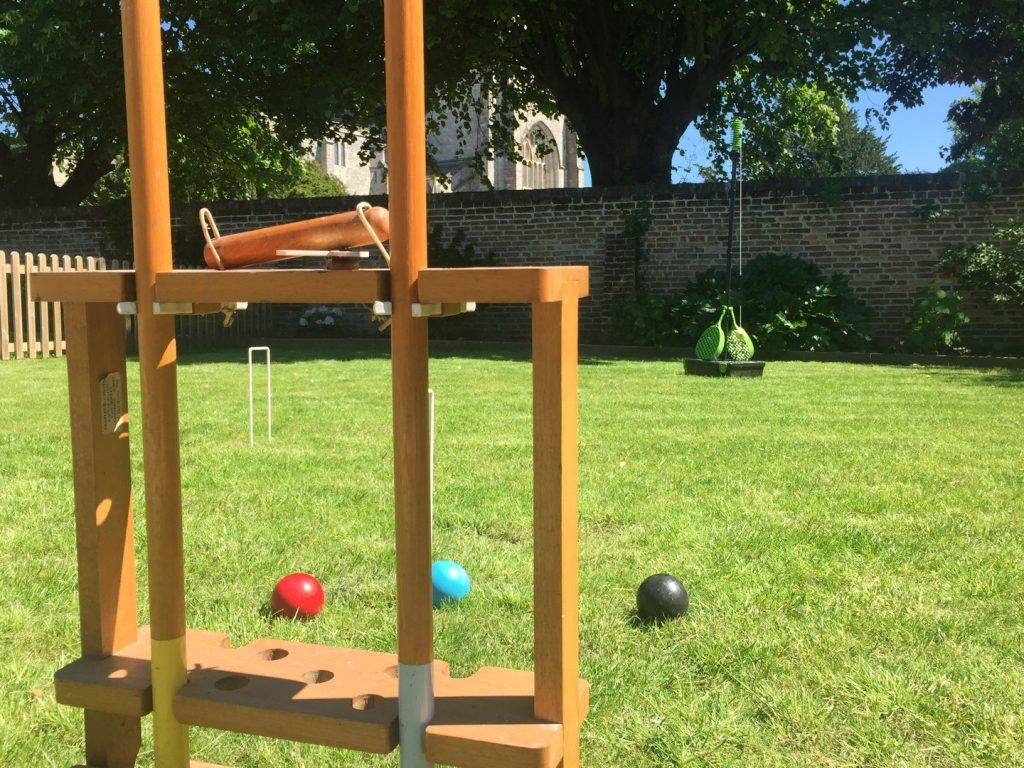 Croquet with the team when staying at the Quays in Dorset