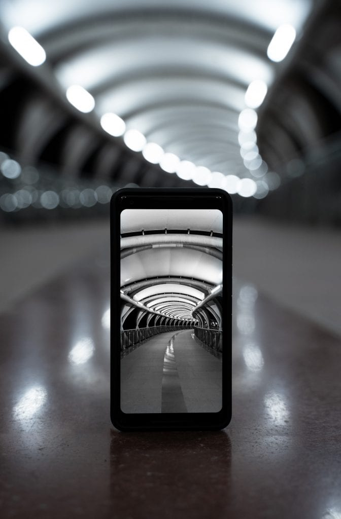 Photo of a phone photo of a tunnel idea for your social media posts