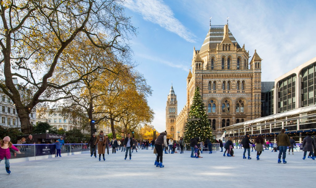 Ice Skating while on a business trip in London