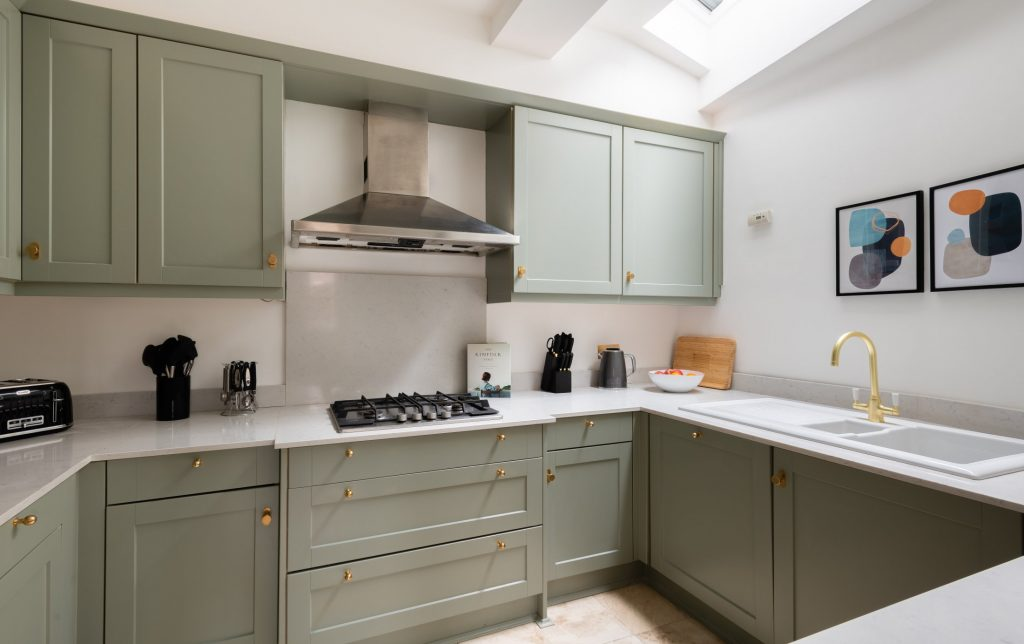 The Pimlico Townhouse, Kitchen with copper features, copper door handles & tap