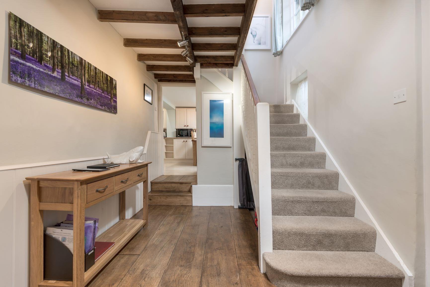 Beck Cottage, Hallway, Stairs