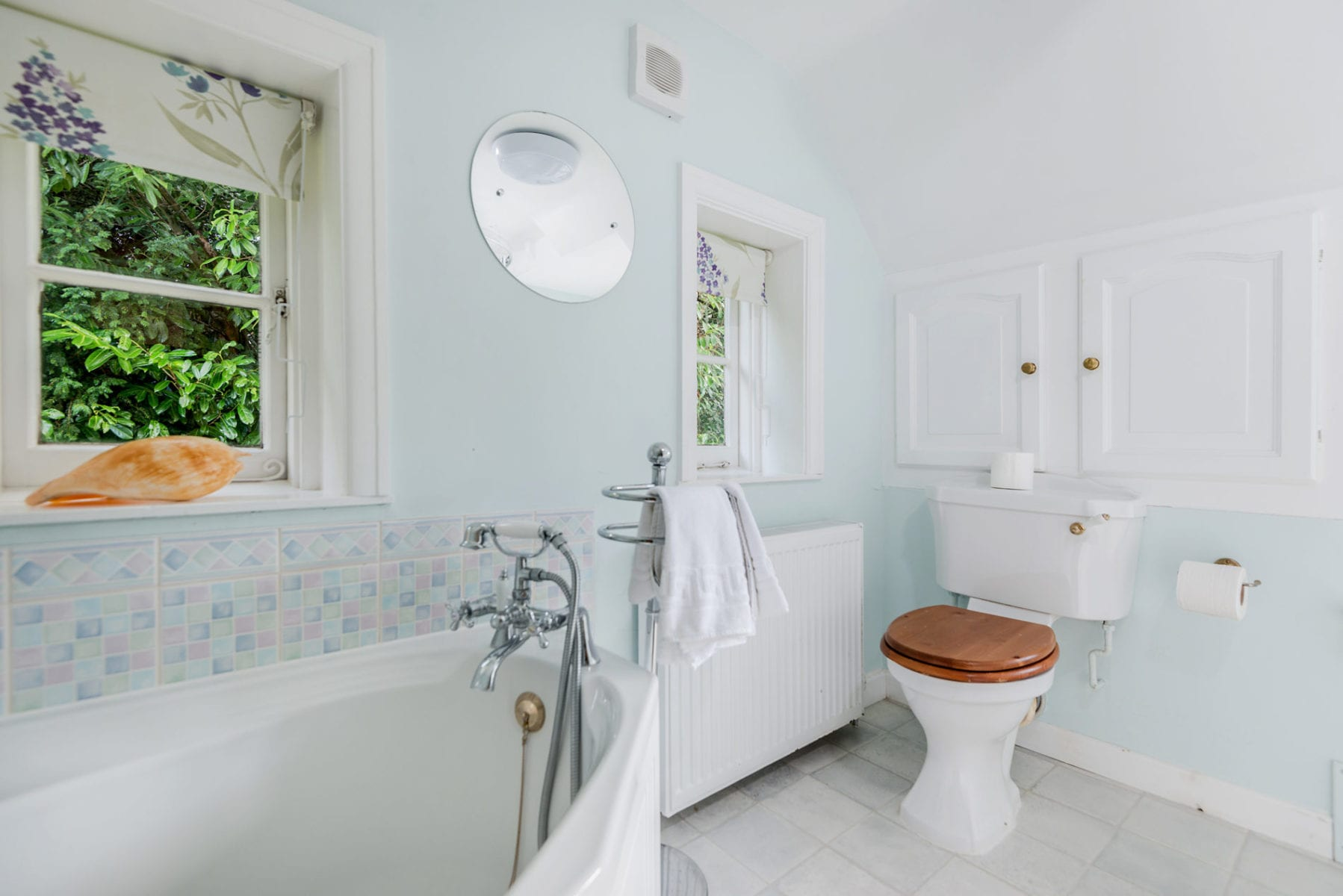Beck Cottage, Family Bathroom with bath and shower