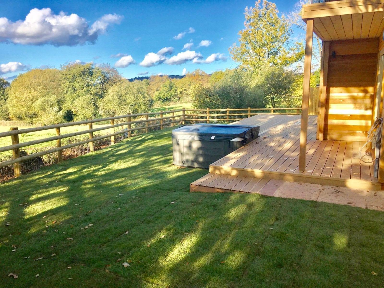 Blackdown Views, garden and hot tub
