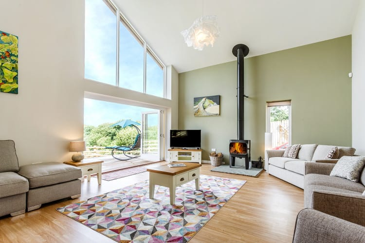 Blackdown Views, Lounge with Fireplace
