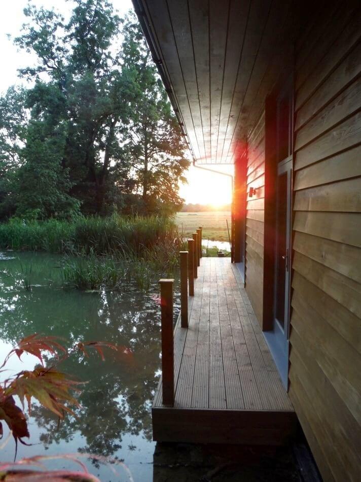 Riverside Lodge, sunset